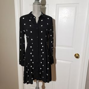 & OTHER STORIES Paris Atelier polka dot button front dress